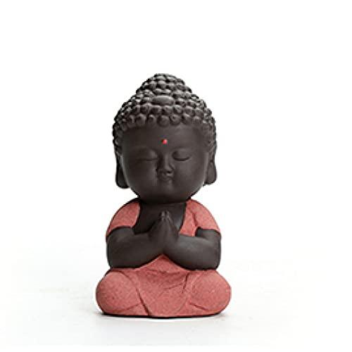 MDROGKUX Accesorios de Coche de Buda Tathagata Rojo para Interior, Dormitorio, Sala de Estudio, Sala de Estar, Oficina, decoración de Escritorio