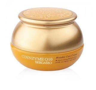 Bergamo coreano Natural muy refind Coenzima Q10Antiarrugas Cuidado Hidratante Refrescante neutralizante Filler Face Cream restaurar piel elasticidad para todos los tipos de piel 50g