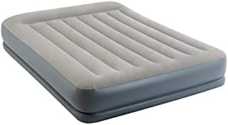 Intex Queen Size Pillow Rest Mid-Rise Airbed With Built-In Electric Pump, 64118