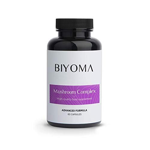 BIYOMA - Trademark Daily Medicinal Mushroom Supplement Designed to Boost Energy, Support Respiration and Recovery Through Enhanced Oxygen Uptake. (60 Day Supply 60 Caps)
