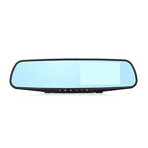Sylvialuca Videocamera Dash Cam da 3,5 Pollici con specchietto retrovisore per Auto DVR DVR per Auto HD 1080P Videoregistratore Digitale a Specchio con Doppia Lente