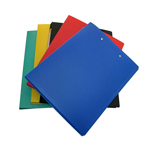 Daycount 5-Pack Clamp Binder A4 File Folder with Double Strong Clip, Punchless Binder with Spring-Action Clamp for Office School Student Teacher Supplies (Assorted Colored)