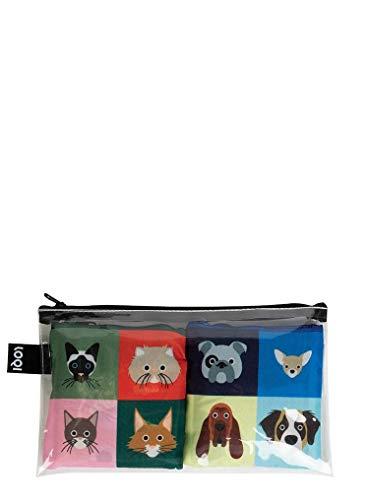 LOQI LOQI SMART Traveller Pocket – Cat & Dog Bags Reise-Henkeltasche, 50 cm, Cat & Dog
