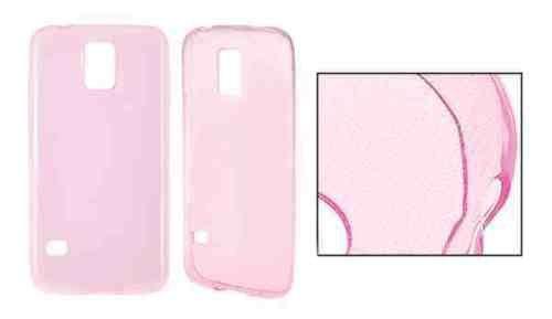 ULTRA SLIM rosa für Nokia Lumia 730 Nokia Lumia 730 Dual SIM Hülle Etui Flip Cover Silikon Tasche dünn nur 0,33 MM
