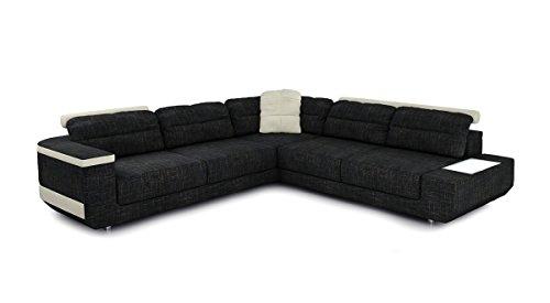 Bullhoff by Giovanni Capellini Eckcouch Sofa Couch Stoff Wohnlandschaft modern Design Ecksofa L-Form mit LED-Licht Beleuchtung Bremen