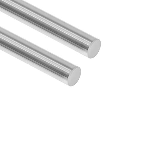 Twotrees Linear Motion Guide 8mm x 500mm (.315 x 19.69 inches) Case Hardened Chrome Plated Linear Motion Rod Shaft Guide - Metric h8 Tolerance