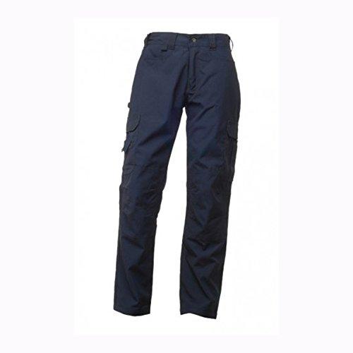 Regatta Rg229 Coton Polyester pour Homme Premium Cargo Workwear Pantalon, 76,2 cm Tour de Taille – Long, Bleu Marine