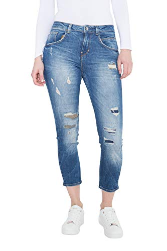 Colins Damen Skinny Fit Jeans Mit Patches Abgesteppte Kante Skinny Fit Jeans Eng Used