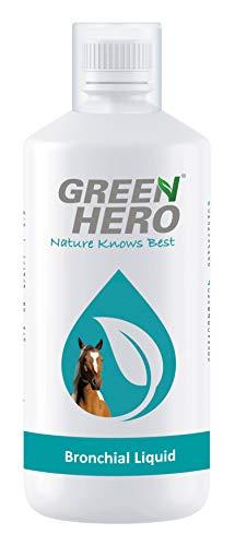 Green Hero Bronchial Liquid für Pferde mit Kräutern Bronchialkräuter Hustensaft