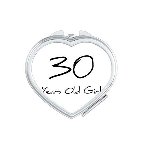 DIYthinker 10000 Ans Fille âge Coeur Maquillage Compact Miroir de Poche Miroirs Mignon Petit Cadeau Portable à la Main Multicolor