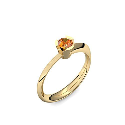 Goldring Feueropal 585 + inkl. Luxusetui + Feueropal Ring Gold Feueropalring Gold (Gelbgold 585) - Devious Amoonic Schmuck Größe 50 (15.9) MW14 GG585FOFA50