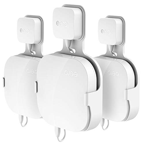 Wall Mount Holder for eero Home WiFi, Simple Designed Accessories Bracket Stand for eero Pro WiFi System Router- No Messy Screws! (1 Pack)