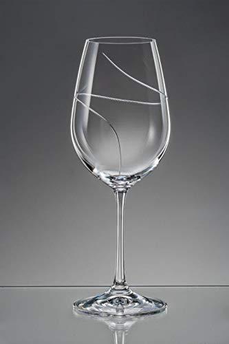Bohemia Weingläser Weinglas Kristallglas Sektgläser Sektglas Wassergläser Whiskygläser Kristallglas Model Viola UP 2er Set klar schliff (Weingläser 350 ml)