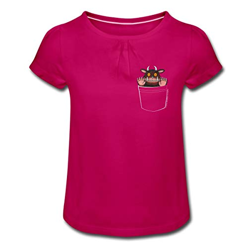 Der Grüffelo Tasche Mädchen T-Shirt mit Raffungen, 10 Jahre, Fuchsia