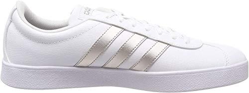 adidas Damen Vl Court 2.0 Skateboardschuhe, Weiß (Ftwr White/Platinum Met.), 39 1/3 EU