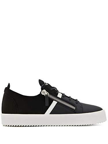 Giuseppe Zanotti Luxury Fashion Design Herren RM90041010 Schwarz Leder Sneakers | Frühling Sommer 20