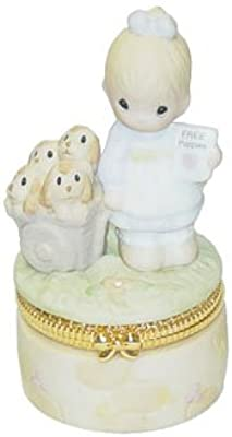 """Precious Moments Collectors Exclusive """"God Loveth A Cheerful Giver"""" Hinged Box"""