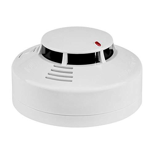 Detector de Humo y monóxido de Carbono Independiente inalámbrico, Alarma de Incendio con batería y luz indicadora, Sensor fotoeléctrico de Voz óptico de 85 dB Mejorado térmicamente para la Escuela