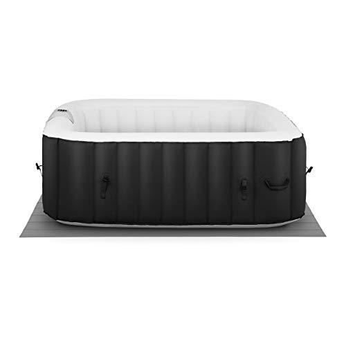 Uniprodo SPA Hinchable Piscina De Hidromasaje Uni_Pools_15 (600 litros, para 4 Personas, 100 Salidas de Aire, En Negro y Blanco)