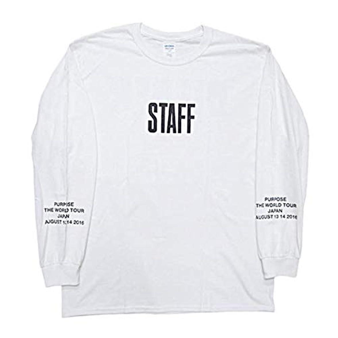 シングル厳密に病限定 ジャスティンビーバー パーパスツアー 長袖Tシャツ justinbieber purpose tour GR8店