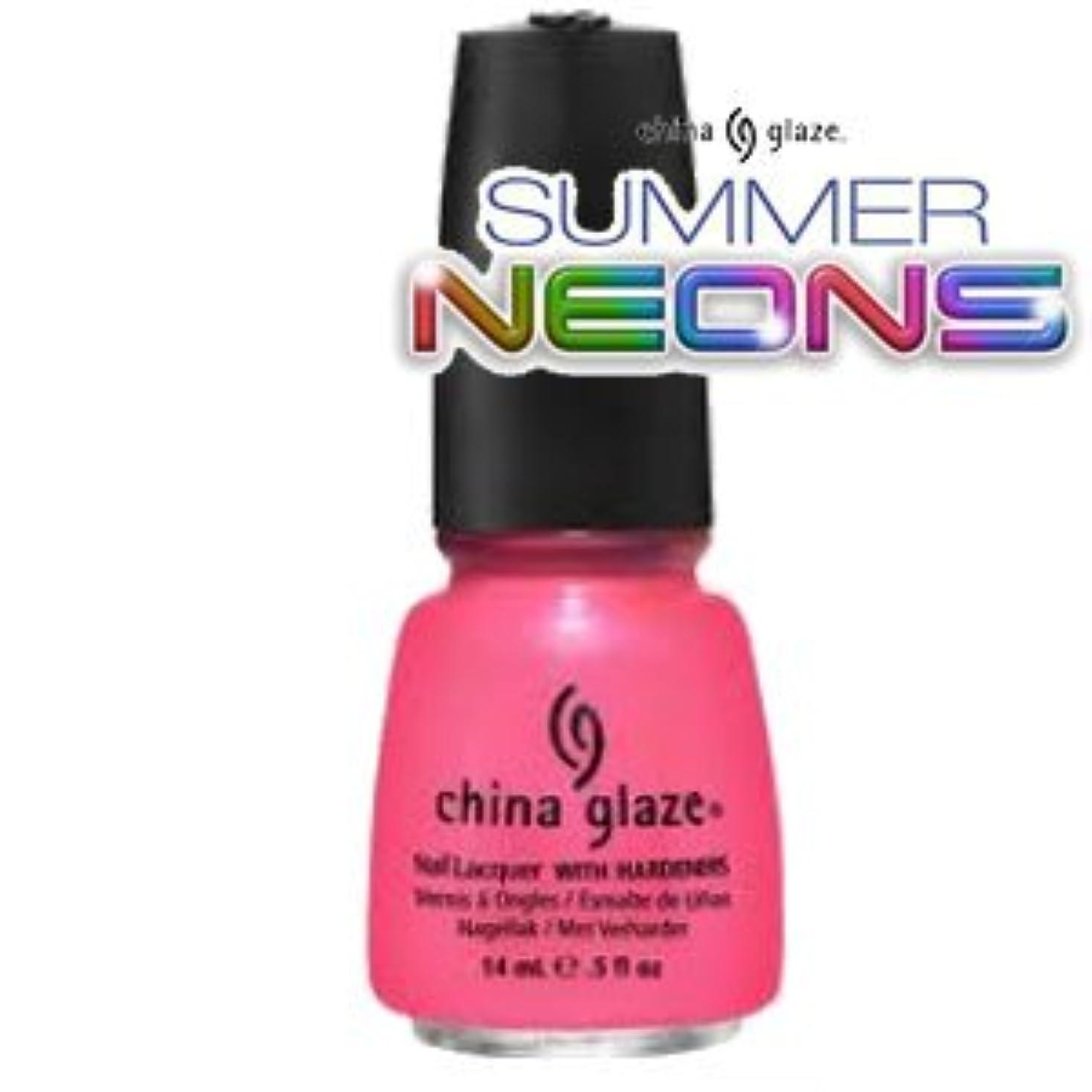 航空機章誰も(チャイナグレイズ)China Glaze Pink Plumeriaーサマーネオン コレクション [海外直送品][並行輸入品]