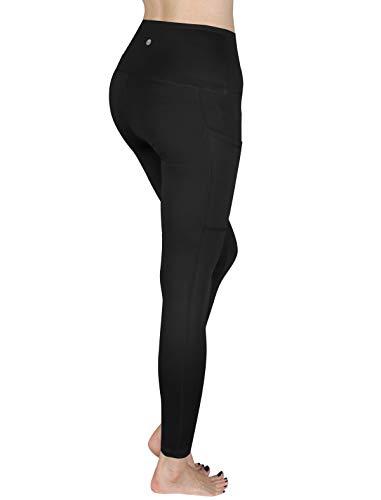 SCREENSHOT - Mallas de invierno con forro polar y bolsillo de cintura alta para control de abdomen, 4 vías elásticas y flexibles, L81904-new Black, XXL