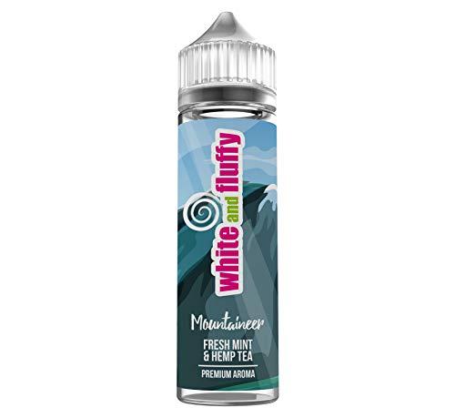 "Longfill Liquid Aroma - White and Fluffy® Mountaineer -""FRESH MINT & HEMP TEA"" PREMIUM Aroma Liquid ohne Nikotin • 60ml / 10ml Longfill nikotinfrei - Test-Note 1,2"
