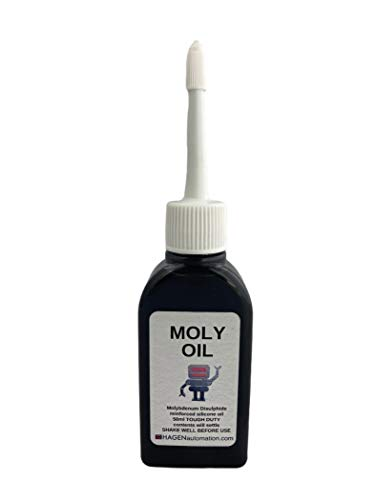 MOLY OIL 50ml Molybdenum Disulphide reinforced silicone oil. Tough Duty lubricant for robots, 3D printers and other machines
