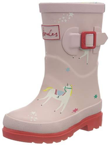 Joules girls Rain Boot, Pink Unicorns, 1 Big Kid US