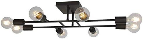 ELUZE Ceiling Light Fixture Industrial Metal Flush Mount Light Oil Rubbed Bronze Ceiling Lamp product image