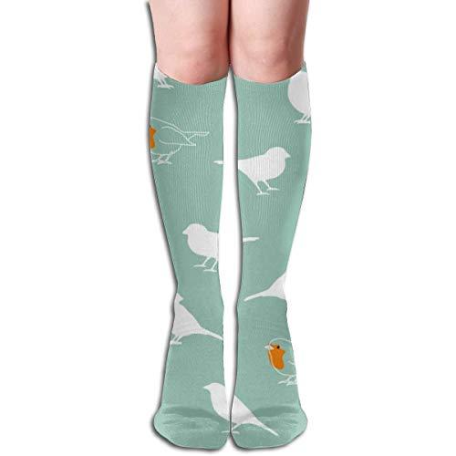 lucies Ein Rotkehlchen unter Spatzen Komfortable Kniestrümpfe für Erwachsene im Freien Outdoor-Socken 50 cm 19,7 Zoll