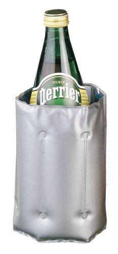 Metaltex Enfriador DE Botellas con Velcro 'Cool', Acero Inoxidable, Plateado, 2.7 x 14.5 x 23 cm