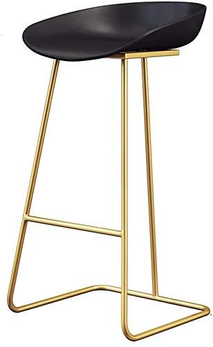 XWYJBD Silla de playa Respaldo barra de taburetes con respaldo Silla de comedor Cocina   bar   Taburete que soportan el peso de 200 kg Altura del metal del oro de la pierna, 65cm, 70cm, 75cm (color, b