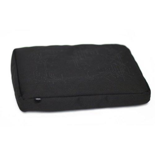 Bosign Surfpillow Hitech per Laptop, Cuscino con Fodera in Poliestere ed Inserti in Silicone, Nero