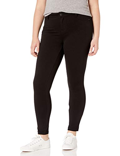 Celebrity Pink Jeans Women's Plus Size Power Ponte Super Skinny Jeans, Black, 20W