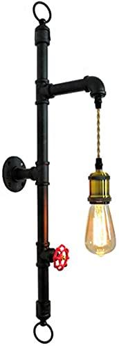 GWDFSU Lámpara de Pared de Tubo de Agua de luz de Pared Industrial Vintage Apliques de Pared LED de Interior Iluminación Steampunk Luces de Pared de Metal para cafetería Hotel Restaurante Inicio Ba