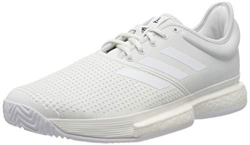 Adidas SoleCourt M Primeblue, Zapatillas de Tenis Hombre, Blanco, 50 EU