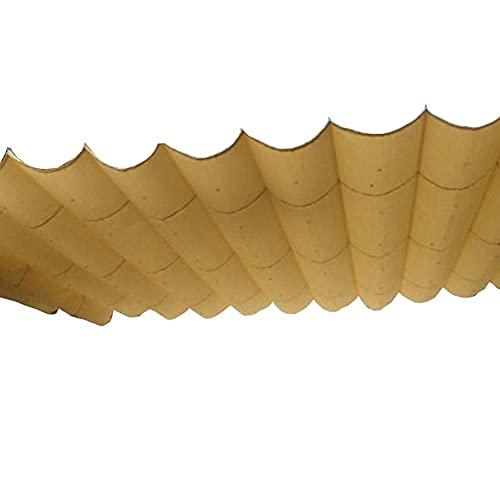 GZHENH Vela De Sombra Retráctil, Sombra De Vela Ondulada Usado para Jardín Pérgola Terraza Proteccion Solar Respirable Cubierta De Sombra Extensible, Personalizable (Color : Khaki, Size : 1.25x4m)