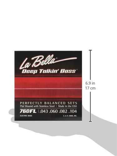 LaBella760FL/DeepTalkin'Bass/Light/043-104/StainlessFlatWound