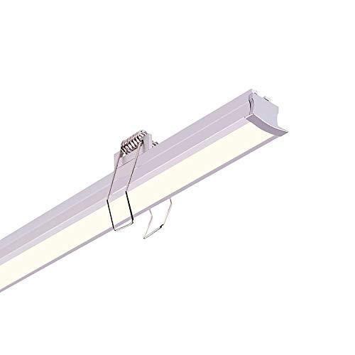 LEDKIA LIGHTING Perfil de Aluminio Empotrado para Techo con Clips 1m para Tiras LED hasta 12 mm Aluminio