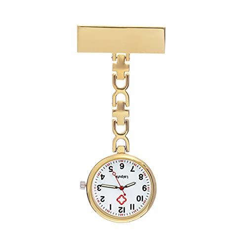 LLRR Relojes Bolsillo Médico,Reloj de Bolsillo de Noche de Enfermera Femenina, patrón de Hospital Lindo cofre-01,Ajustable Longitud Reloj de Bolsillo