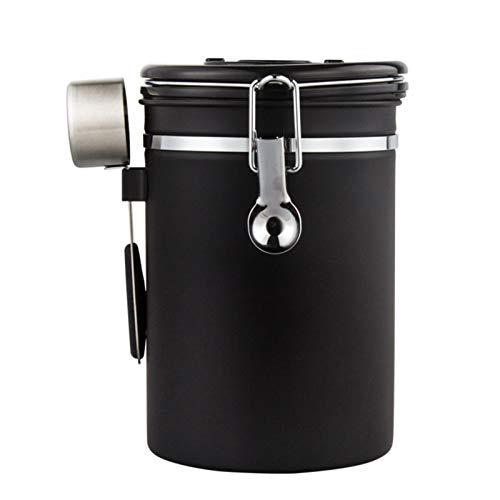 Kaffeedose Luftdicht, Kaffeebehälter,Kaffeedose Edelstahl Aromadose Vorratsdose,kaffeebohnenbehälter vakuum kaffeedose mit löffel,für Kaffeebohnen oder Kaffeepulver, Tee, Nüsse, Kakao, Kapazität: 750g
