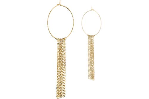 Bérénice Hoop Earrings Chains Gold Plated