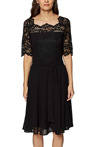 ESPRIT Collection Damen 108EO1E015 Kleid, Schwarz (Black 001), X-Small