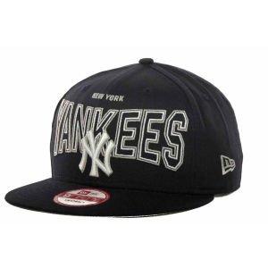 New Era 9Fifty Hat New York Yankees Navy Blue Outter Snapback Headwear Cap (S/M)