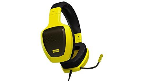 Auriculares gaming con micrófono amarillo