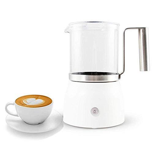Afneembare Elektrische melkopschuimer, Elektrische Liquid Heater for Hot and Cold Milk, RVS, stille werking, automatische uitschakeling, en Non-Stick Interior, 250 ML, White zhihao (Color : White)