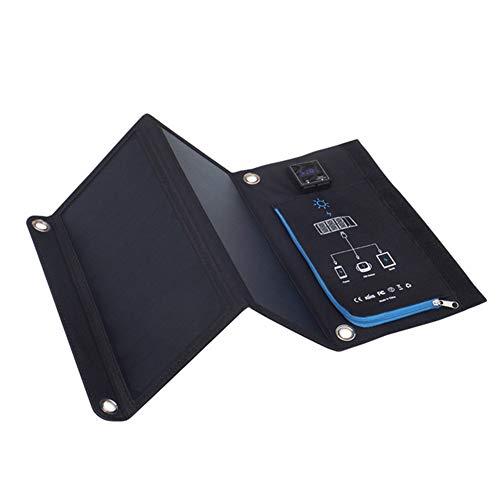 WNTHBJ Draagbare oplader op zonne-energie, oplader voor mobiele telefoon, oplader voor buiten, op zonne-energie, mobiele telefoon, oplaadaansluiting (1 stuks)