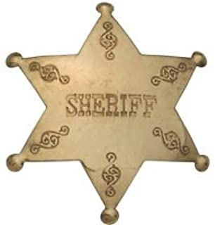 Costume Badge Brass Sheriff Old West Prop