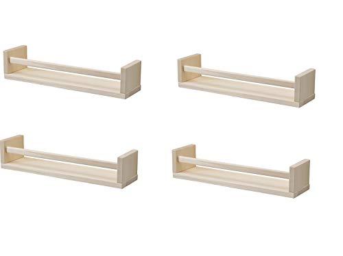 IKEA 4 especieros de madera – guardería – soporte para libros –...